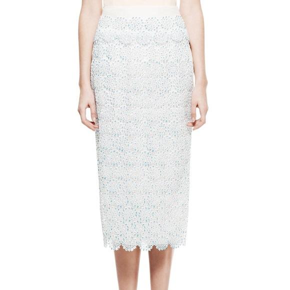 0d40152b36 Tory Burch Skirts | Whitney Embroidered Lace Midi Skirt | Poshmark